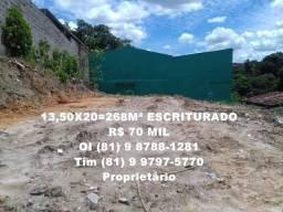 50 % Financiado. Pernambuco-Camaragibe, ótimo terreno no Lot. Timbi