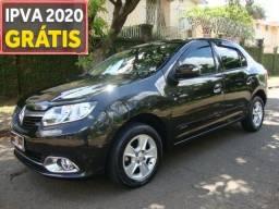Renault logan dynamique 1.6 - 2014 - completo - ipva pago - bx km - novo - 2014