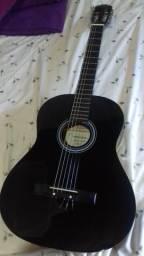 Vendo violão com capa novo