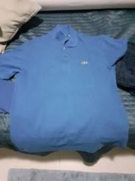Camisa da Lacoste azul, usado comprar usado  Campina Grande