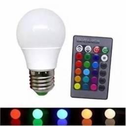 Lâmpada Bulbo Led Rgb 3w E27 Bivolt Colorida Controle Remoto comprar usado  Goiânia