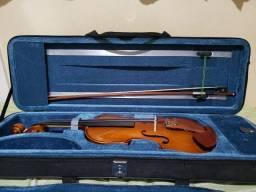 "Violino Eagle Ve 411 + Estojo + Espaleira + Livro ""Teoria da Música"" (Bohumil Med)"