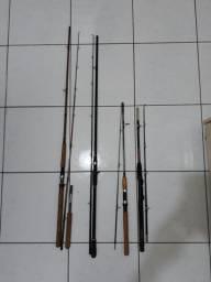 Carretilha e varas de pesca