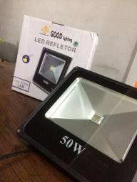 Refletor Led 50 Watts RGB (Colorido) a prova d'água