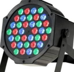 Canhão Luz Iluminação 36 Leds Rgb Dmx Bivolt 110/220v Strobo