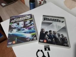 Título do anúncio: DVD's Velozes & Furiosos 5 e 7 edição especial