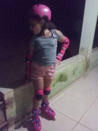 patins rosa escuro