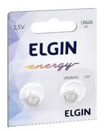 Título do anúncio: Bateria Lr626 Ag4 Elgin Pilha Alcalina Original cada unidade