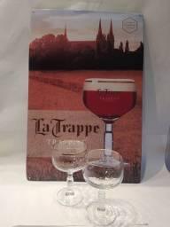 Título do anúncio: Placa Metálica Importada Original da Cervejaria La Trappe da Holanda Beer Bier Cerveja
