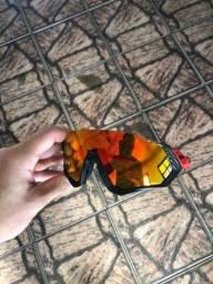 Título do anúncio: Óculos Oakley Flight Jacket polarizado.