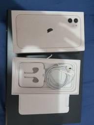 Título do anúncio: Caixa do iPhone 11 + fone de ouvido original