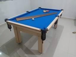 Título do anúncio: Mesa Tentação Tecido Azul 4 pés Mod. 113OM9DH