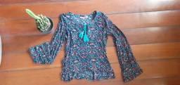 blusa estampada de manga comprida