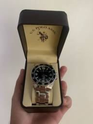 Relógio prata U.S polo
