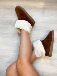 Bota Australiana Ugg Feminina Camurça Forrada Pelo Inverno