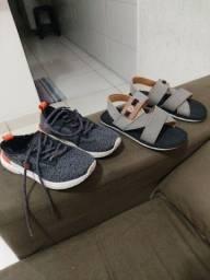Título do anúncio: Um tênis e uma sandália N° 30