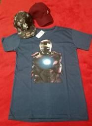 Camisa masculina / boné / regata