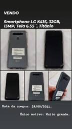 Título do anúncio: Smartphone LG K41S, 32GB, 13MP, Tela 6.55´, Titânio