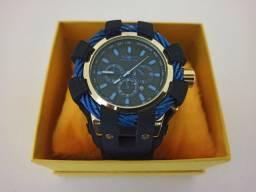 Relógio Masculino dourado pulseira ajustavel