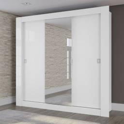 Título do anúncio: Guarda Roupa Casal Kappesberg Com Espelho 3 Portas De Correr Branco