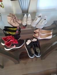 Lote calçados 33/34  VENDO SEPARADO