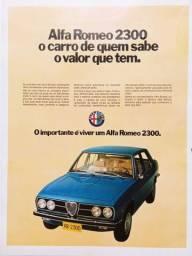Alfa Romeo 2300 1974 - Carro antigo - Propaganda de revista