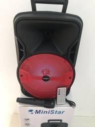Caixa de Som Bluetooth Rádio e karaokê