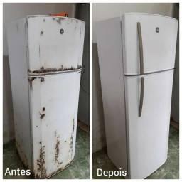 Título do anúncio: Envelopamentos em geral, geladeiras, fogões, móveis, elétrons etc.