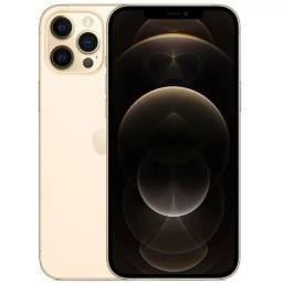 "Título do anúncio: iPhone 12 Pro Max Apple (128GB) Dourado tela 6,7"" Câmera tripla 12MP iOS"