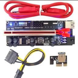 Título do anúncio: Adaptador de cartão pci riser 010s plus gpu, com led pci express