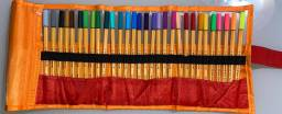 Kit Estojo com 30 Canetas Coloridas Stabilo