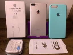 Título do anúncio: iPhone 7Plus impecável, 100% de bateria + Acessórios e Garantia