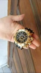 Invicta hybrid pulseira silicone, aprova d'gua, fazemos entrega