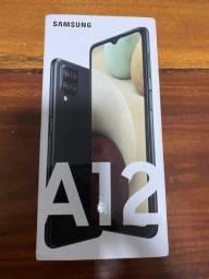 Samsung A12 preto 64 Gb (na caixa)