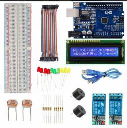 Kit arduino display componentes eletrônicos