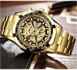 Relógio Original Forsining Winner esqueleto mecânico automático