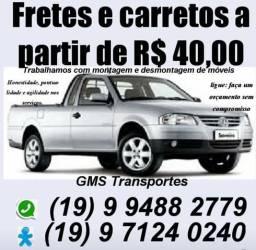 Fretes, carretos, pequenas mudanças e entregas rápidas em Campinas e região