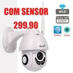 Camera Speed Dome IP Giratória HD Wifi Externa Segurança Noturna Resiste Agua
