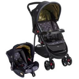 Carrinho + Bebê Conforto - Cosco Travel System Nexus KDD-6798 - Preto
