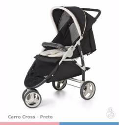 Carrinho de bebê passeio Galzerano Cross 15 kg preto