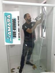 Box para banheiro com preço e qualidade é na Samara Box-Vidros