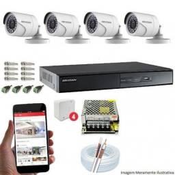 Kit combo cameras de segurança imperdível