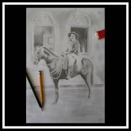 Desenhos realista feito a mão