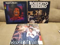 LP Vinil Roberto Ribeiro em excelente estado. lote 3 discos