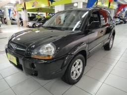 Hyundai Tucson GLS 2.0 Flex/GNV Autom Completo Couro DVD 2014 Preta