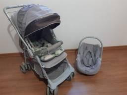 Carrinho Galzerano com Bebê Conforto, acompanha um Canguru e Sling de Brinde!