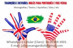 Faço Trabalhos de Tradução de Inglês/Português e Português/Inglês