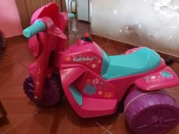 Título do anúncio: Moto infantil elétrica bandeirante rosa