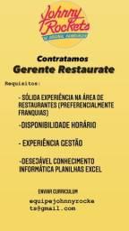 Título do anúncio: GERENTE RESTAURANTE COM EXPERIÊNCIA
