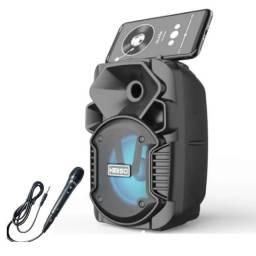 Título do anúncio: Caixa De Som Portátil Bluetooth Potente com Suporte para Celulares